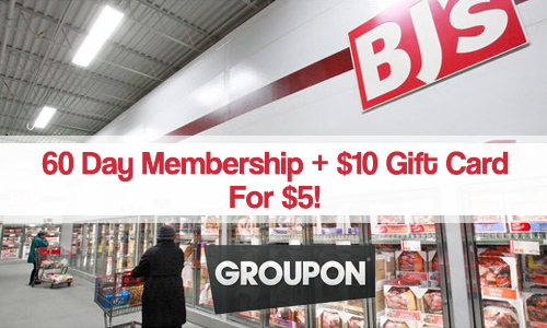 bjs wholesale club membership groupon