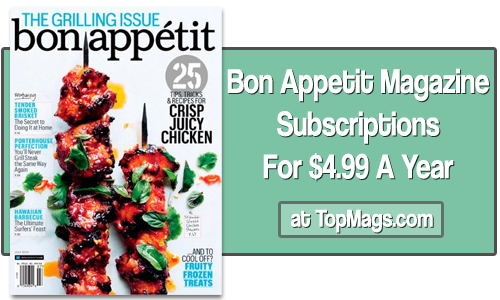 bon appetit subscriptions for 499 1