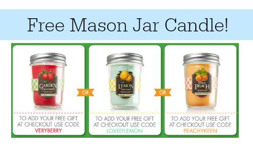 free mason jar candle