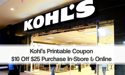 kohls coupon 10 off 25