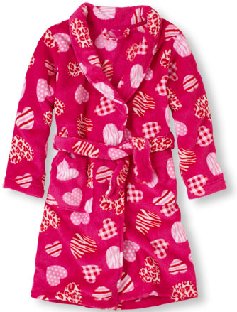 patchwork heart robe childrens place