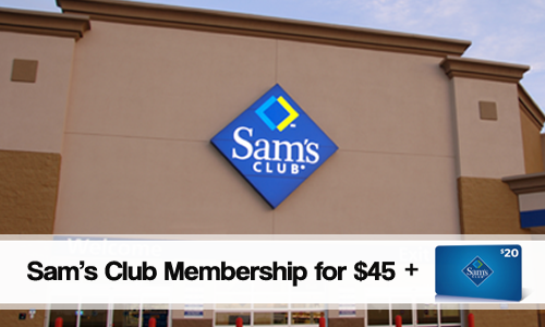 Sam's Club Membership, $45
