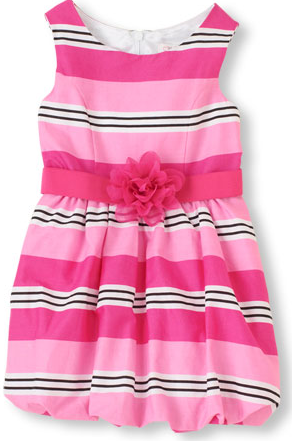 striped bubble dress