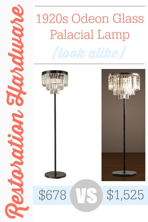 A Restoration Hardware 1920s Odeon Glass Palacial Lamp look alike from Wayfair.