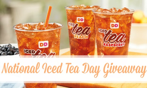 Dunkin' Donuts National Iced Tea Day Giveaway