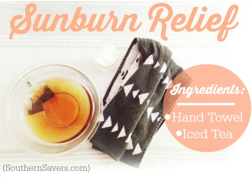 Quick Tip  Brew tea to help with your sun burn.  Instant relief!