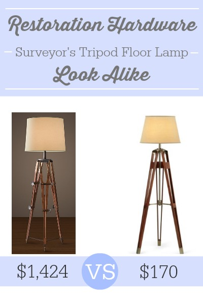 Restoration Hardware Surveyor's Tripod Floor Lamp Look Alike
