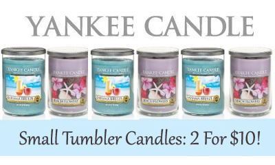 Yankee Candle Sale Small Tumbler Candles 2 For $10