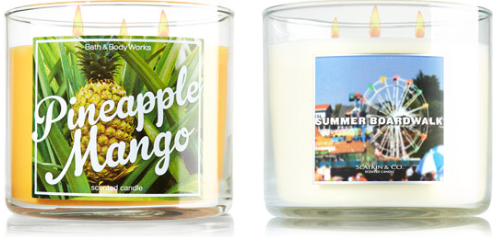 bath body work semi annual 3 wick candle