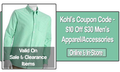 kohls 10 off 30 coupon code