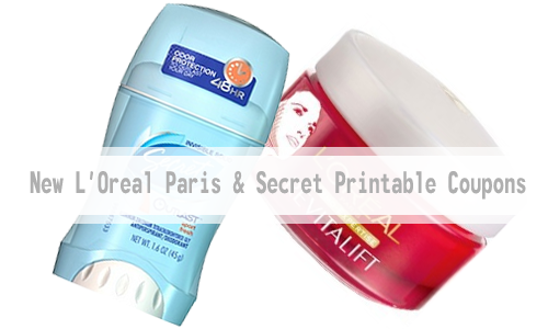 loreal and secret printable coupons