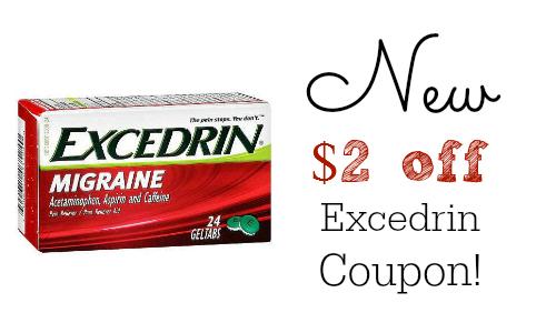 new excedrin coupon