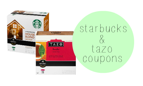 starbucks & tazo coupons