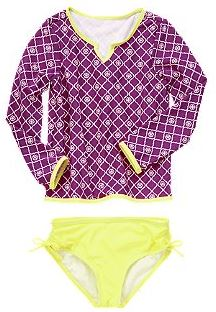 rash guard swim set