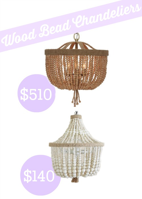 Pottery Barn Kids Dahlia Chandelier is a fraction of the cost of the Shades of Light Wood Bead Basket Mini Chandelier!