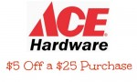 Ace Hardware Coupon: $5 Off $25 Purchase