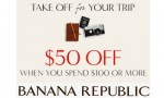 Banana Republic Sale: $50 Off $100 Purchase + Free Shipping