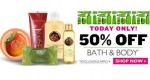 The Body Shop Sale: 50% Off All Bath & Body, Today Only