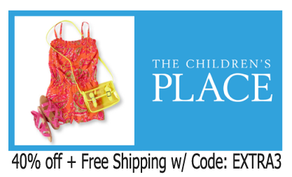 childrens place 40 off free shipping