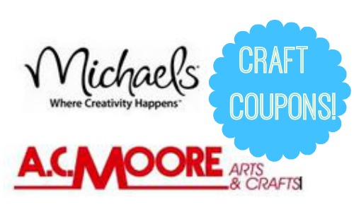 Here Are Some Great Craft Coupons Available This Week Get 30 Off Your Entire Purchase At Michaels Plus 50 Any Regular Price Item AC Moore