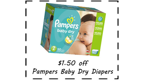 diaper coupon pampers baby dry