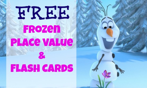 free frozen themed place value and flash cards    southern