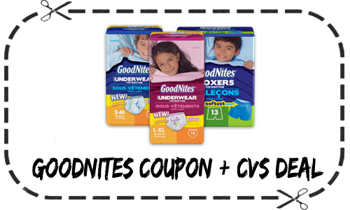 goodnites coupon and cvs deal