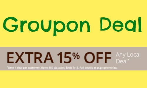 groupon coupon code  15  off local deals  today only