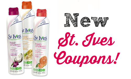 new st. ives coupons