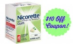 $10 Off Nicorette or NicoDerm Coupon