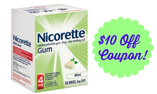 graphic regarding Nicorette Printable Coupon called $10 Off Nicorette or NicoDerm Coupon :: Southern Savers