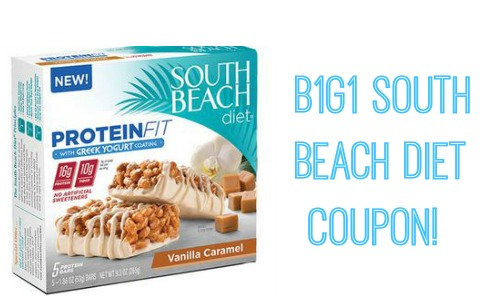 BOGO South Beach Diet Snack Bars Coupon!