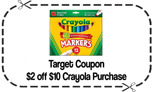 image regarding Crayola Coupons Printable named Crayola Coupon Preserve $2 off $10 Obtain at Aim
