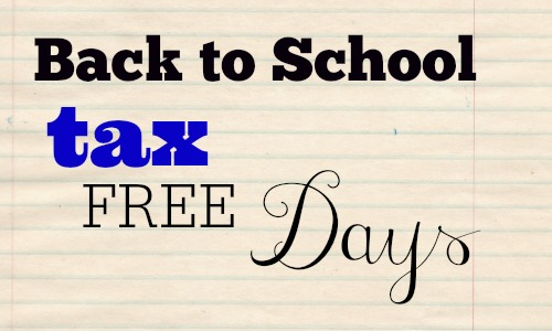 Reminder: Tax Free Shopping Days!