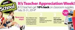 Walmart Teacher Appreciation Week: Up to 10% Back