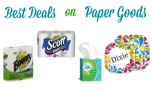 Best deals on paper goods