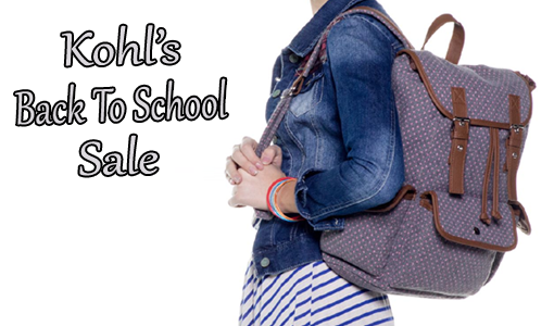 Kohl's Back To School Sale