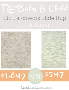 RH Baby & Child Rio Patchwork Hide Rug Look Alike