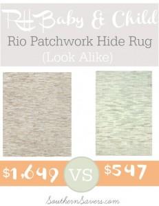 RH Baby & Child Rio Patchwork Hide Rug Look Alike