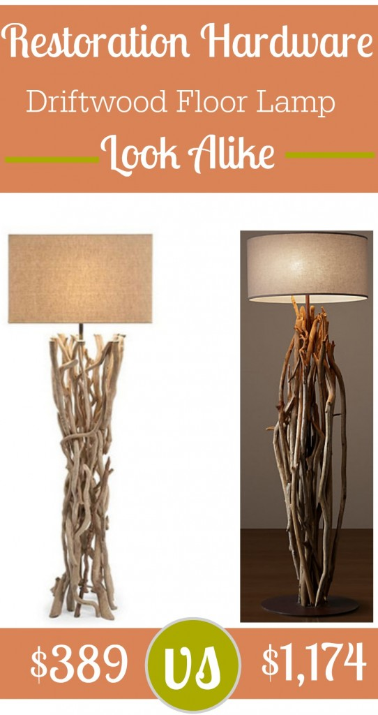 Restoration Hardware Salvaged Driftwood Floor Lamp Look Alike