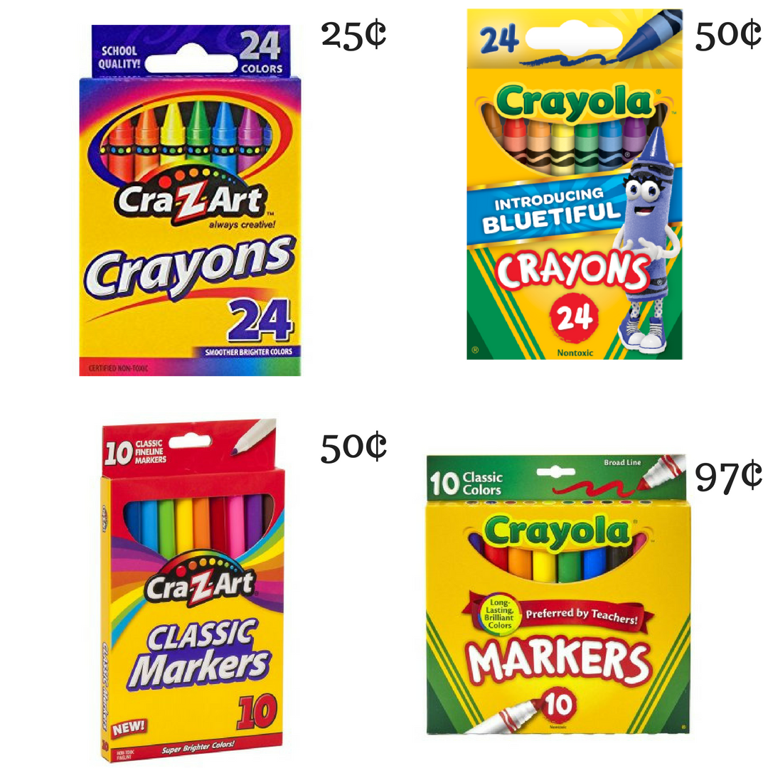 walmart craft supplies walmart stock up prices on markers amp crayons southern 3199