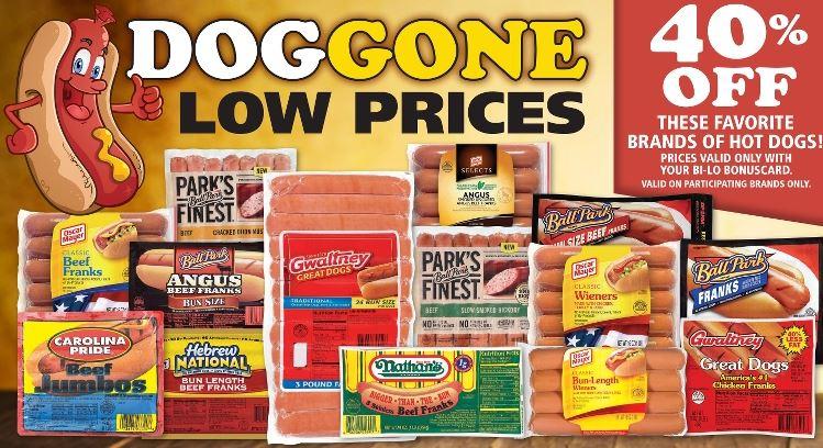 bi-lo hot dogs