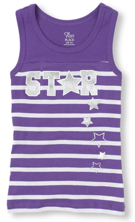childrens place striped active tank top