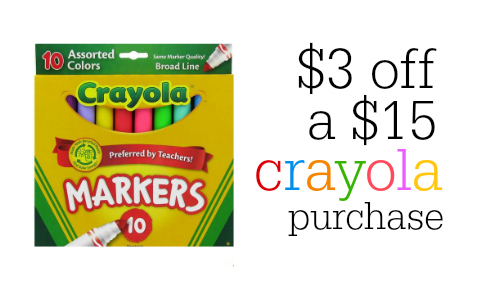 picture about Crayola Coupons Printable identify Clean Crayola Coupon Conserve $3 off $15 Order :: Southern Savers