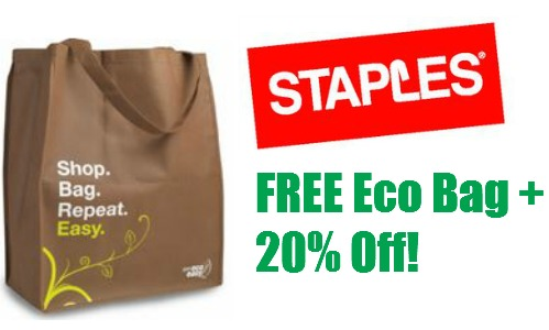Staples Deal Extra 20 Off Everything In Bag Southern Savers