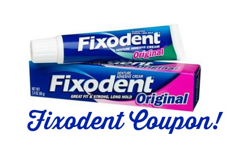 fixodent denture coupon
