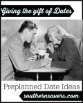 Frugal Date Friday: Giving The Gift of Dates