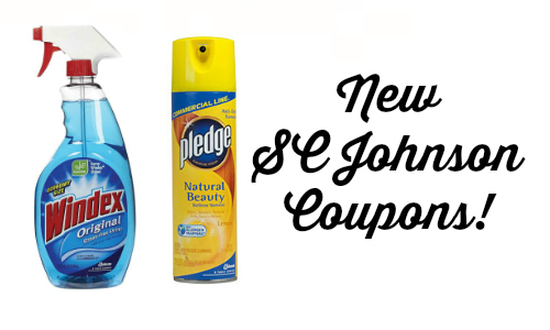 New Sc Johnson Coupons Windex Pledge Glade More