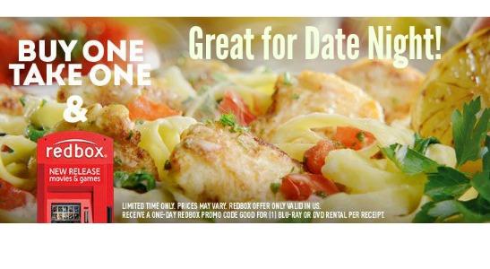 Olive Garden Deal Bogo Entree Free Redbox Southern Savers