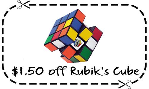 rubik's cube coupon